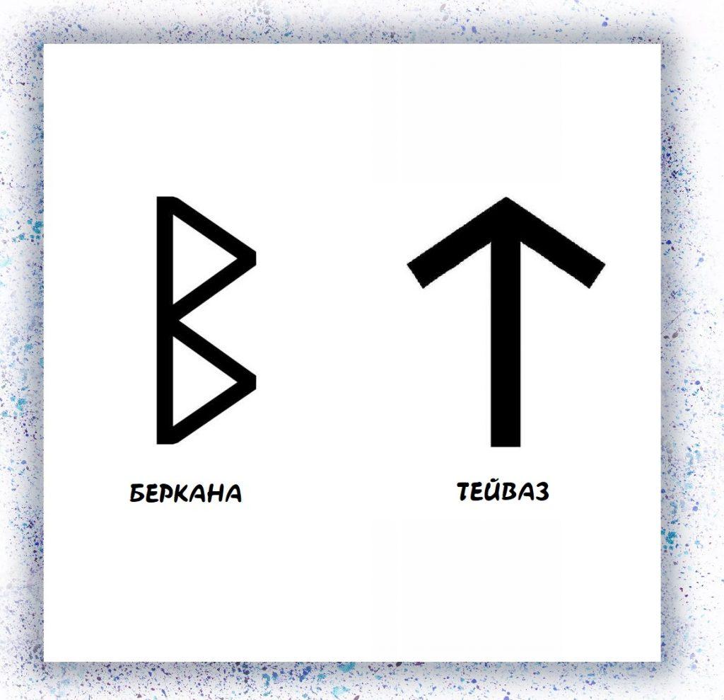 Беркана и Тейваз