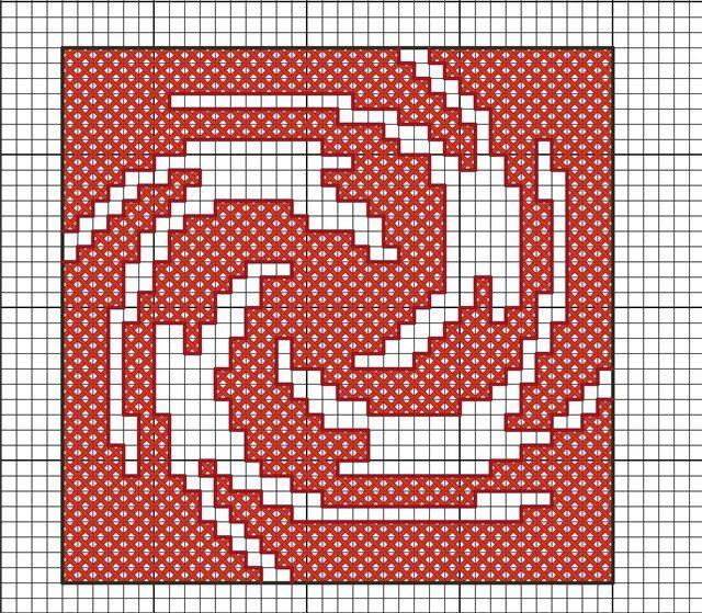 Схема для вышивки знака Знич