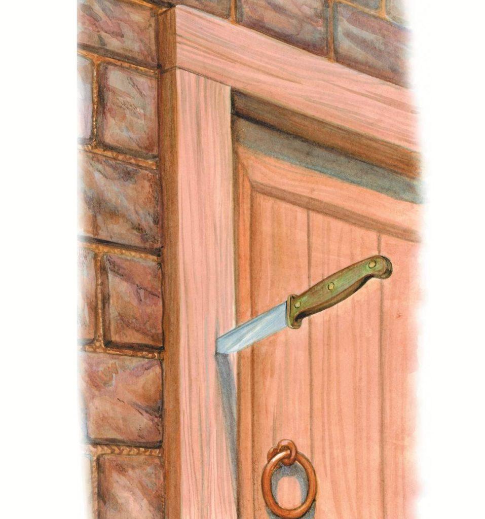 Нож в двери