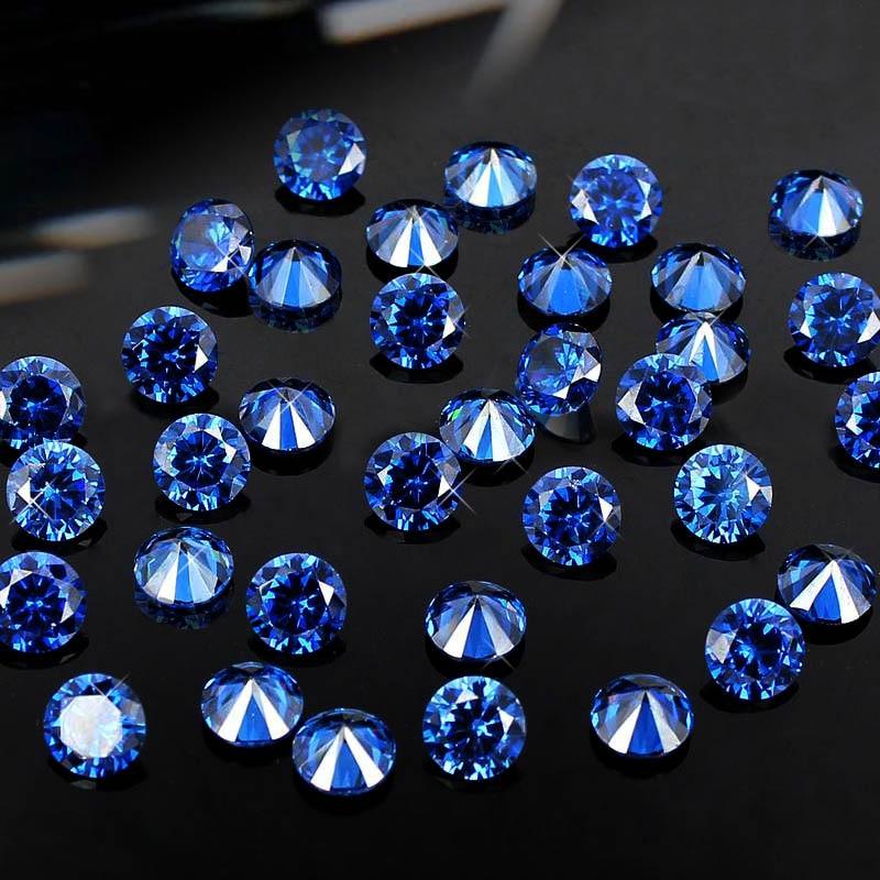 Синий фианит